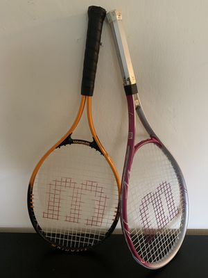 Pair of Wilson Tennis Rackets for Sale in Washington, DC