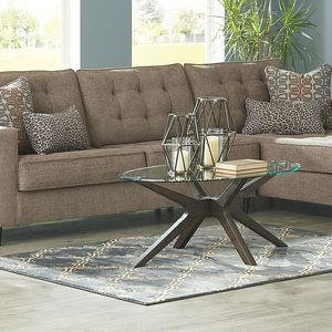 NEW IN THE BOX. FLINTSHIRE BROWN RIGHT-ARM FACING CHAISE SECTIONAL, SKU# TC25003-66-17 for Sale in North Tustin, CA