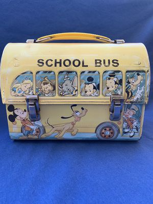 Vintage Walt Disney School Bus Lunchbox w/Thermos for Sale in Scottsdale, AZ