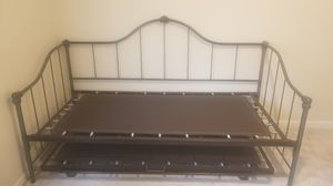 Wrought-iron Daybed with Adjustable Trundle for Sale in Ellenwood, GA