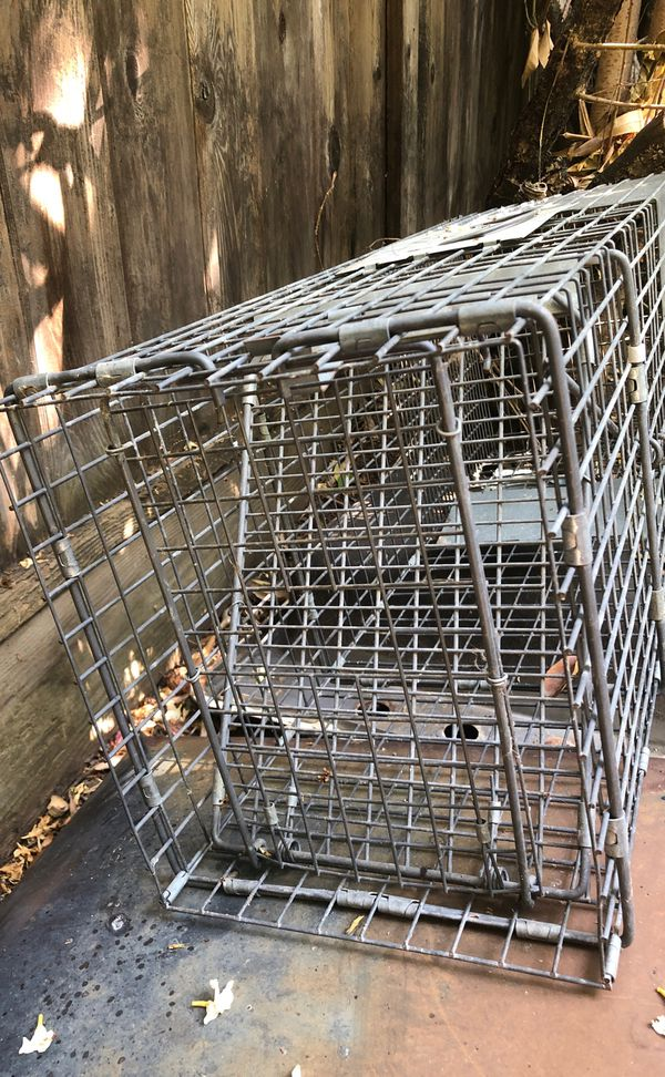 Animal trapping cage