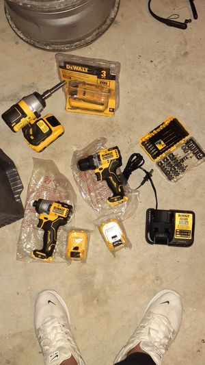 DeWalt impact, drill driver and anval impact drills 1/2 12 volt and anvil gun for Sale in Blackwood, NJ