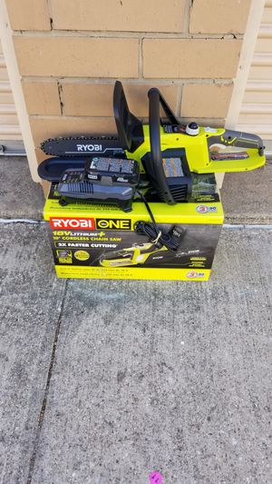"""🎅🎄🎅Ryobi 10"""" Chainsaw 18v w/ Battery & Charger for Sale in Irving, TX"""