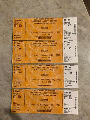 Hamilton Tickets Miami February 28 for Sale in Coconut Creek, FL