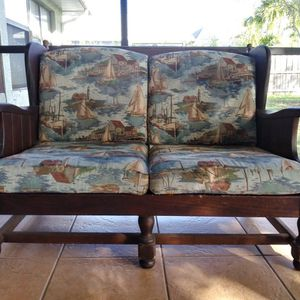Antique Ethan Allen Couch Loveseat And Footrest Set for Sale in Port St. Lucie, FL