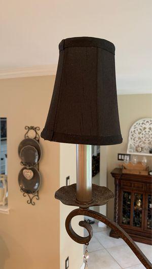 SMALL LAMP SHADES BLACK-set -10 for Sale in Marlboro Township, NJ