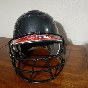 Rawlings Youth Baseball Batting Helmet With Mask for Sale in Gig Harbor, WA