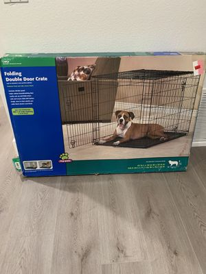 Top Paw Large Dog Pet Folding Double Door Crate Cage for Sale in Irvine, CA