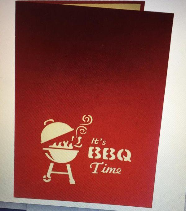 Pop-up BBQ invite cards