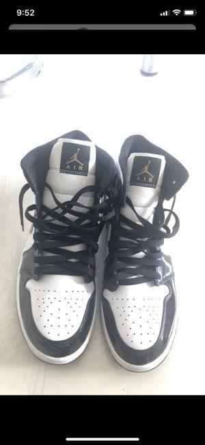 Jordan 1 Mid Patent Black White Gold Size 10.5 for Sale in Miami, FL