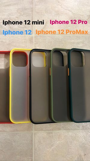 iPhone 12 protective translucent matte cases for Sale in Bristol, CT