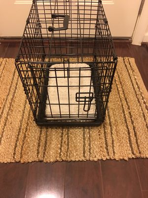 Dog Crate with Plush Insert & Potty Pad Holder for Sale in Rockville, MD