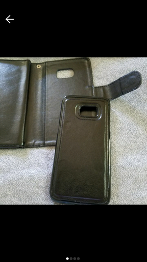 2 Piece Black Samsung galaxy 7 edge phone case with removable hard case. Magnetic taking off and putting back on. BRAND NEW. NEVER USED. for Sale in New York, NY