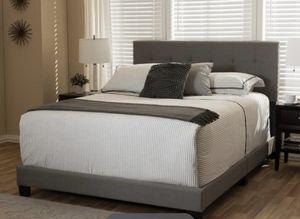 Gray Modern Upholstered Bed Frame for Sale in Washington, DC