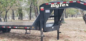 Gooseneck trailer 2016 Big Tex 25' + 5' only used one time like new for Sale in Nacogdoches, TX