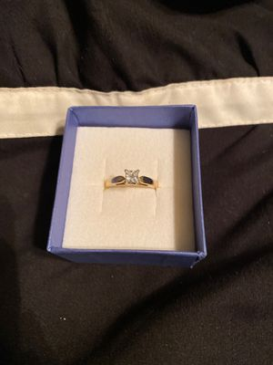 1/2 carat 14kt yellow gold princess cut diamond ring for Sale in Stanfield, NC