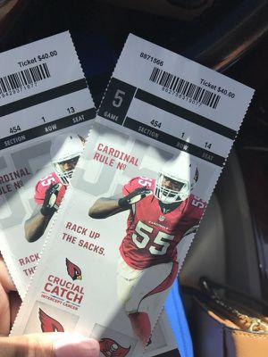 Cardinals vs Buccaneers for Sale in Phoenix, AZ