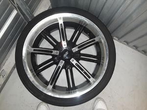4 22' RIMS AND TIRES for Sale in Camden, NJ