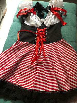 Pirate dress, short adult costume, Halloween for Sale in Kissimmee, FL