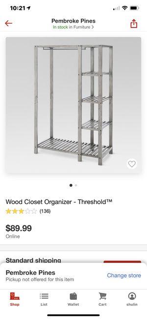 Closet organizer for Sale in Miami Gardens, FL