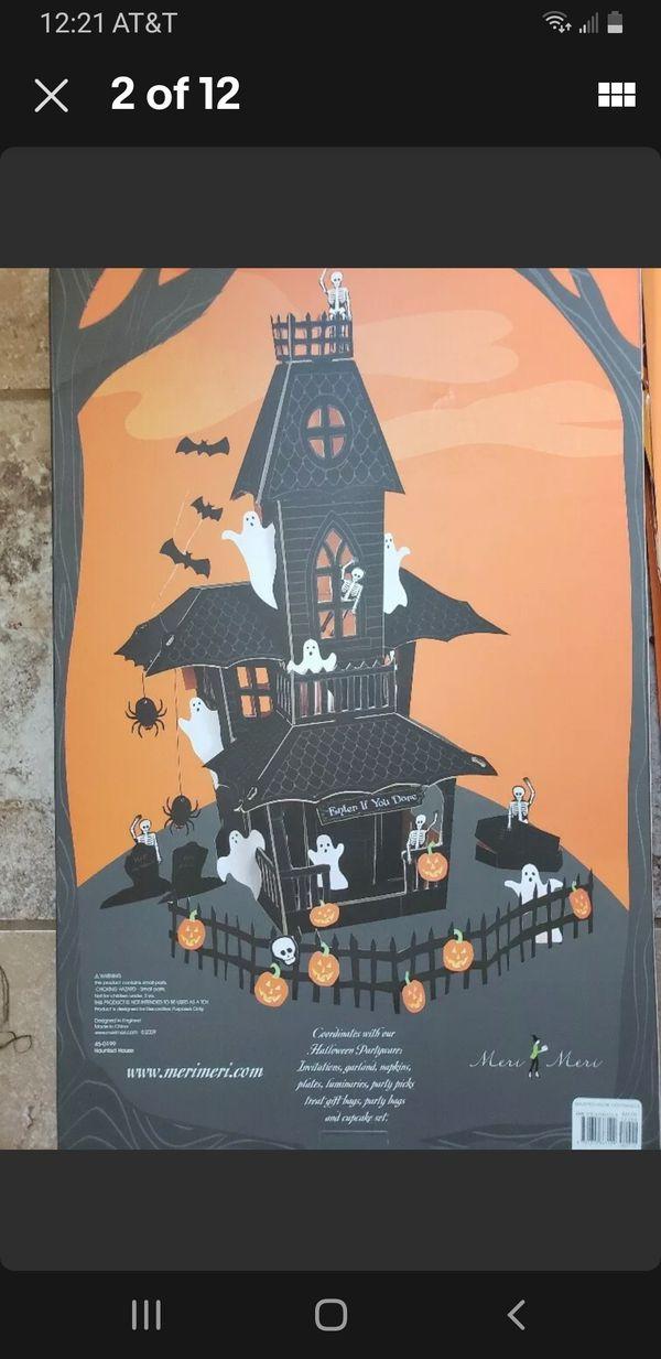 Meri Meri Spooky Halloween Haunted House Centerpiece ~ Open Box