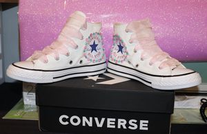 Girls custom converse girls size 1 and 12 for Sale in Edgewater Park, NJ