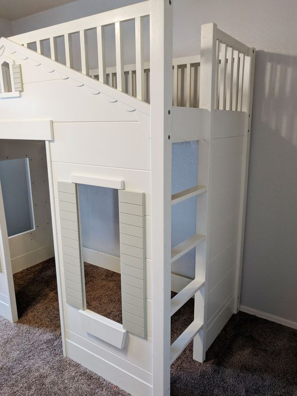 Pottery Barn Kids Cottage Playhouse Loft Bunk Bed Twin