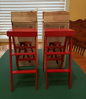 """Christmas Red 12"""" Wood Ladders for Sale in Darien, IL"""