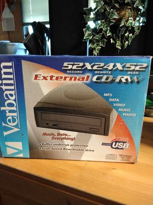 52x24x52 external CD rewriter for Sale in Covington, WA