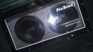 2 10 in Polk audios in pro bend box for Sale in San Antonio, TX
