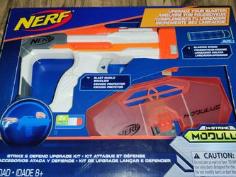 New Nerf Gun Modulus Strike And Defend Upgrade Kit B1536 for Sale in Cornelius,  OR