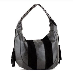 NWT Black suede mixed hobo style purse for Sale in Windermere, FL