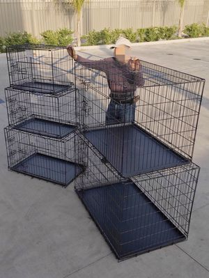 "New $25 to $65 range 24"" 30"" 36"" 42"" 48"" foldable 2 doors dog cage crate kennel collapsible jaula de perro for Sale in Covina, CA"