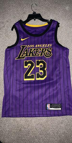 LA Lakers City Edition LeBron James Jersey Size Medium 100% Authentic for Sale in Alexandria, VA