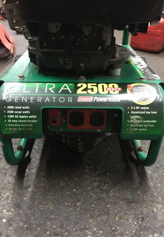 Ultra 2500 watt generator Coleman power mate 5 5 hp for Sale in Chicago, IL  - OfferUp