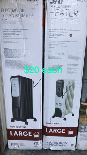 Sai oil filled/electric heaters for large rooms for Sale in Bakersfield, CA
