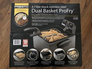 Brand new Presto duel basket deep fryer for Sale in Post Falls, ID