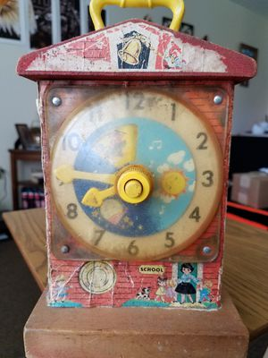 1968ish Fisher price musical teaching clock for Sale in Gassaway, WV