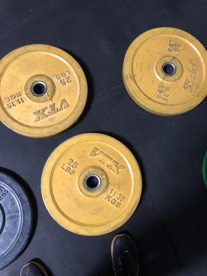 25 pound bumper plates $35 each for Sale in El Monte, CA