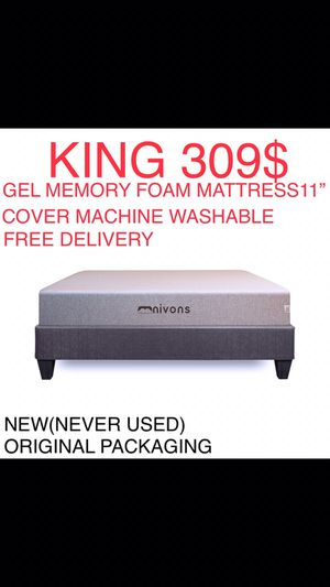 King Mattress Gel Memory Foam for Sale in Cumming, GA