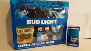 Budweiser essential game night with playing cards coasters poker for Sale in Fayetteville, AR