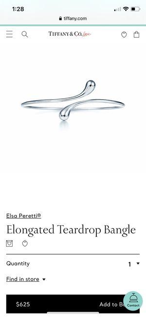 Authentic Tiffany & Co Elsa Peretti teardrop bangle for Sale in Vancouver, WA