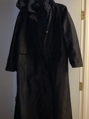 Black lined rain jacket with removable hood. Size 12. New. Scottsdale for Sale in Tempe, AZ