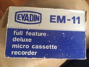 Micro cassettes recorder evadin EM-11 for Sale in Boynton Beach, FL