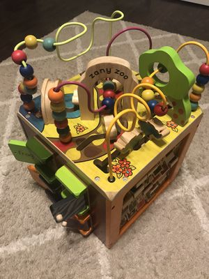 Zany Zoo Wooden Activity Cube for Sale in Chula Vista, CA