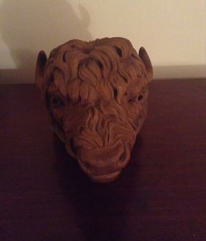 Carved wood buffalo head for Sale in Vancouver, WA