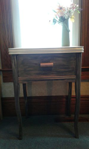 Shabby Chic Sewing Table Turned Side Table for Sale in Drakesville, IA