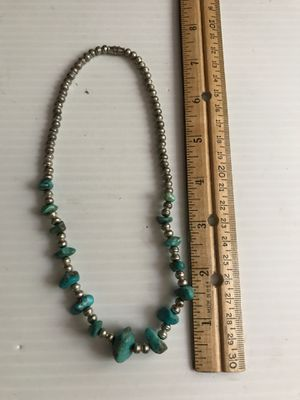 "Native American Turquoise & Silver Necklace (14"") for Sale in Boynton Beach, FL"