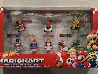 Mariokart Hot Wheels *MINT* 8 Pack Luigi Bowser Toad Princess Nintendo for Sale in Lewisville,  TX