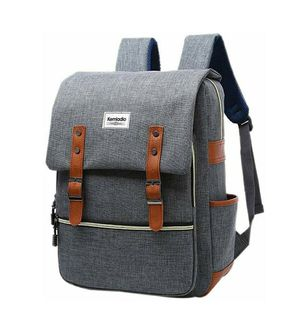 Vintage Backpack 15.6 Inch Slim Laptop Bag College Backpack School Bag Casual Daypack for Travel and Trip (Gray) for Sale in Baldwin Park, CA